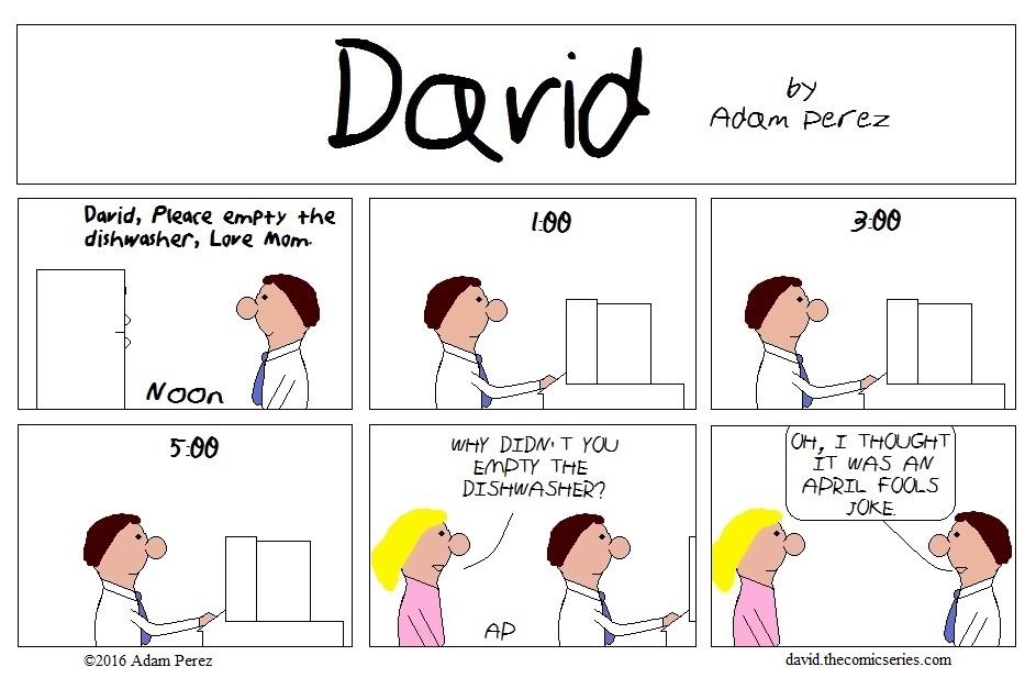 David's April Fools Day