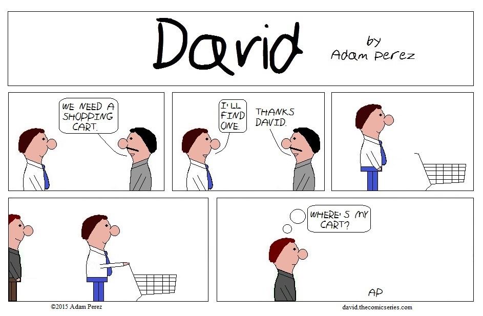 David steal a cart